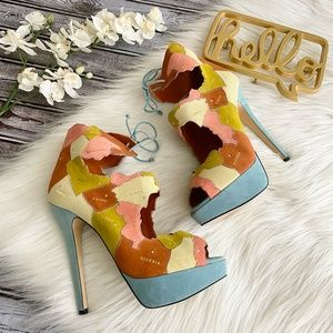 Charlotte Olympia Heels WORLD AT HER FEET Size 40